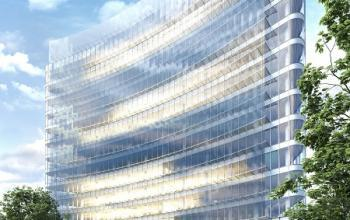 widok biurowca z zewnątrz carbon tower