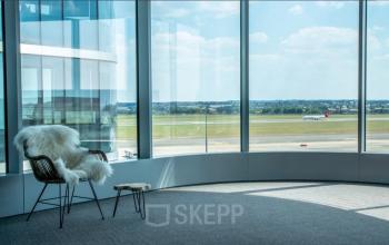 Prachtig uitzicht over het Brussels National Airport