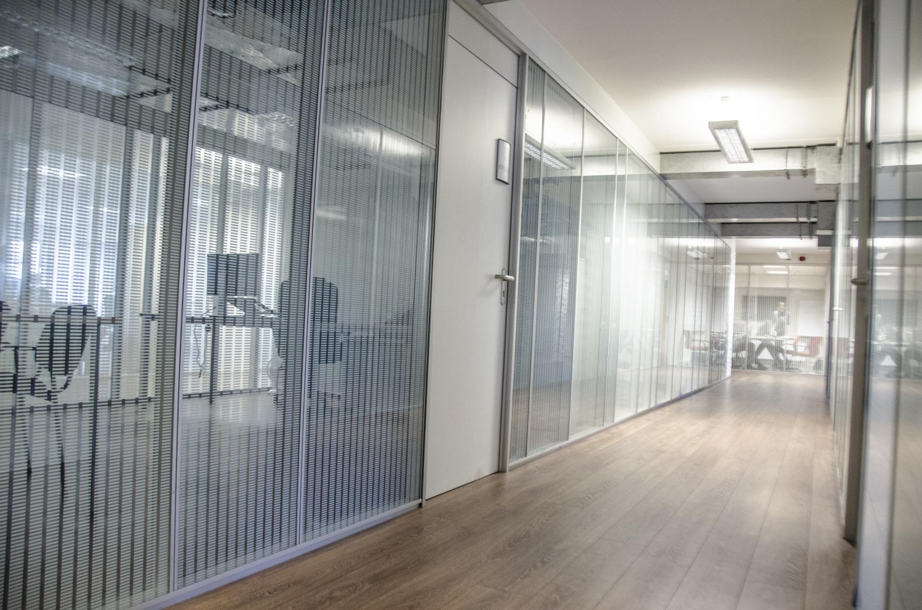 hallway windows doors office rooms
