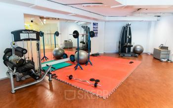 Fitness room available in the office building