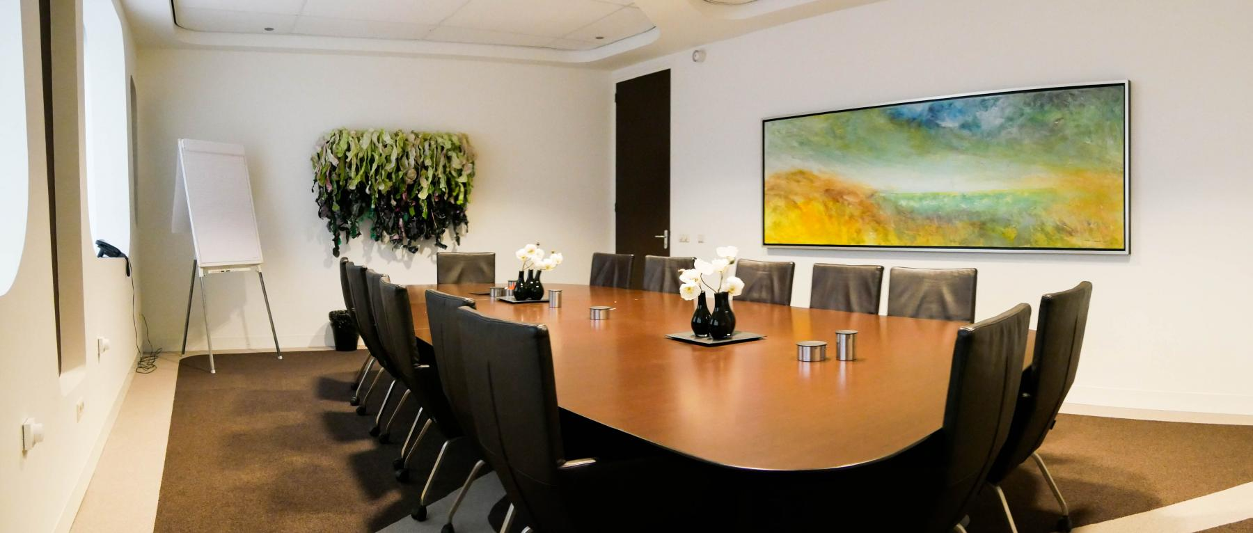 Meeting room in office building with nice painting