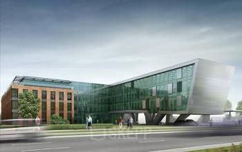 office building grunwaldzka street gdansk from outside
