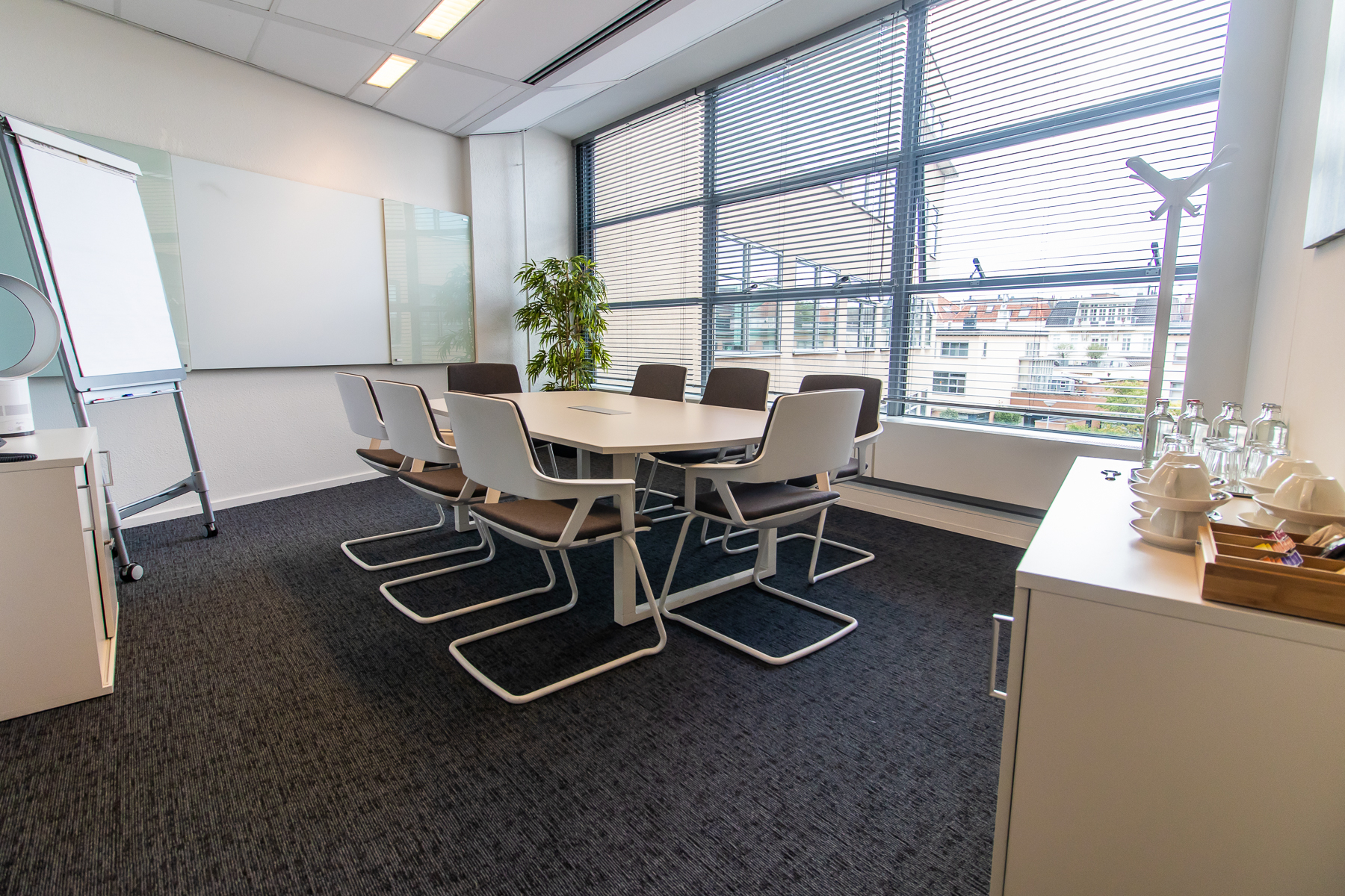 Several meeting rooms available in the building