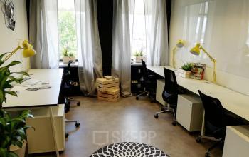 Gemütliches Büro mit moderner Ausstattung