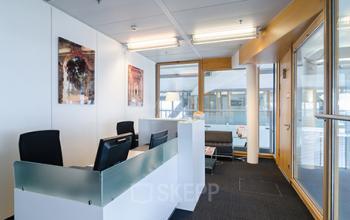 Moderner Empfangsbereich des Business Center in Düsseldorf Bilk