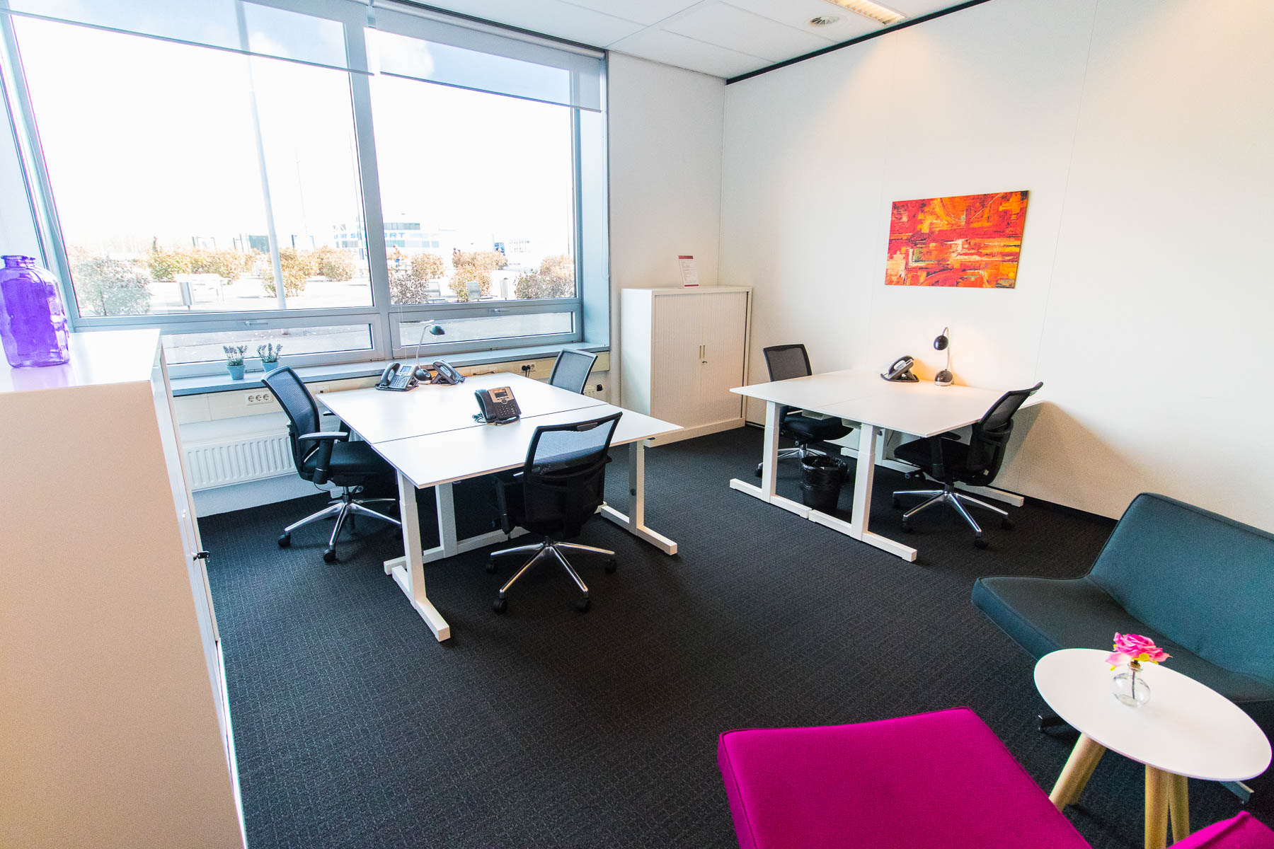 Large office spaces with natural light
