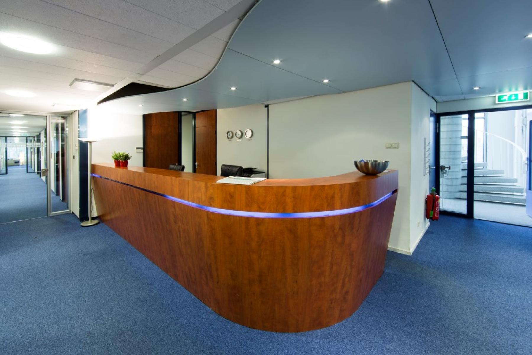 receptiebalie aanwezig in kantoor in Eindhoven, maak gebruik van receptiediensten aan de Fellenoord