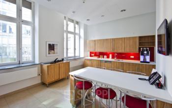 Voll ausgestattete Gemeinschaftsküche des Business Centers an der Taunusanlage in Frankfurt