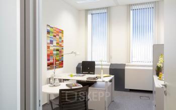 Ein geräumiges Einzelbüro in Frankfurt Bockenheim mieten an der Theodor-Heuss-Allee
