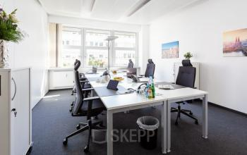 Heller Meetingraum im Business Center in Frankfurt, Mainer Landstraße