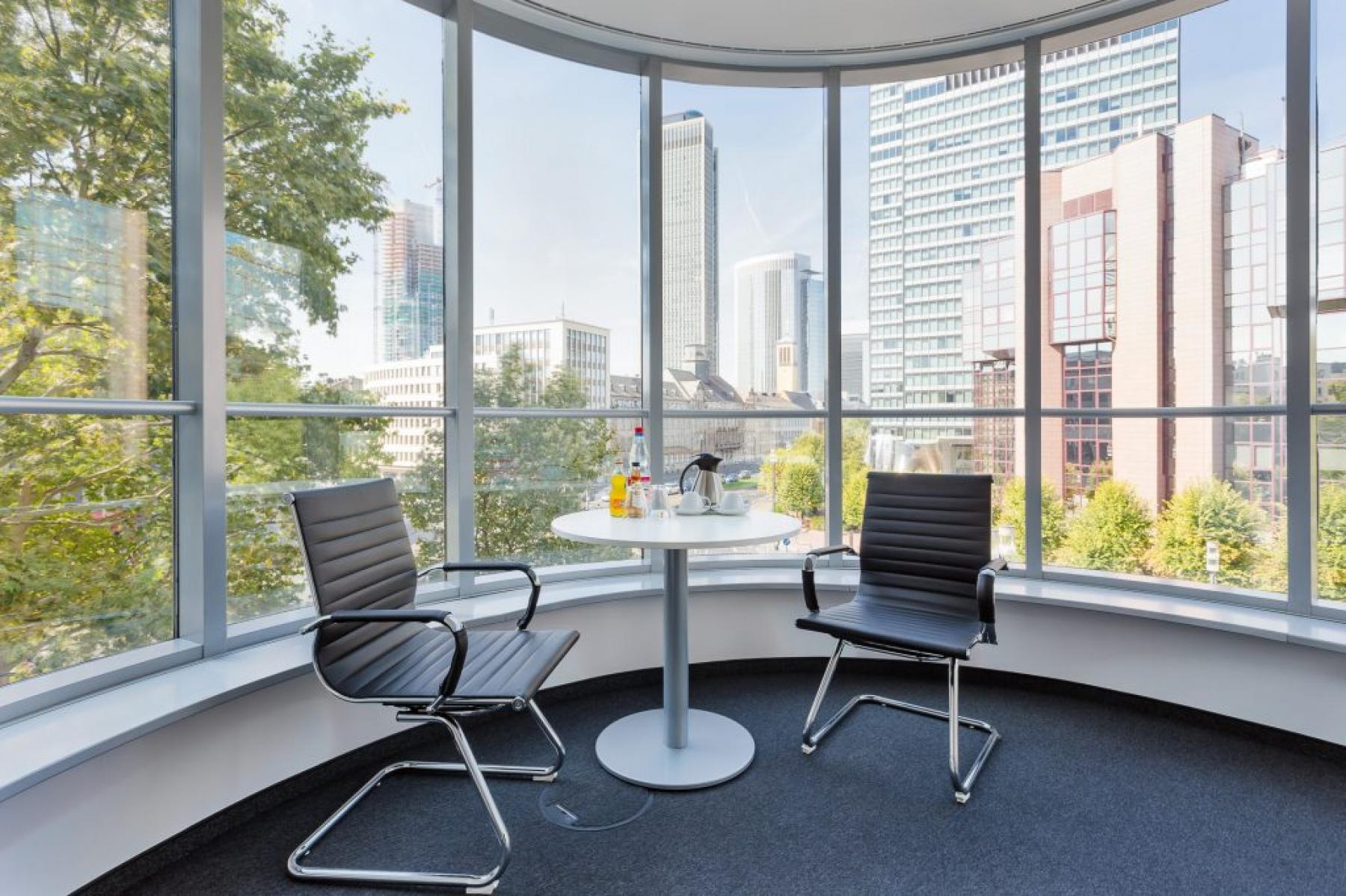 Wunderschöne Ausblick aus dem Business Center in Frankfurt