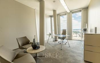 Miete ein Büro mit einer wunderschönen Aussicht in Frankfurt