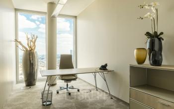 Office for rent with a beautiful view at Thurn-und-Taxis-Platz in Frankfurt