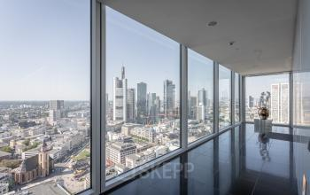 Atemberaubende Aussicht aus dem Business Center in Frankfurt