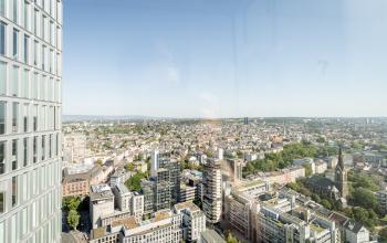 Atemberaubende Aussicht aus den Büros zur Miete in Frankfurt Innenstadt
