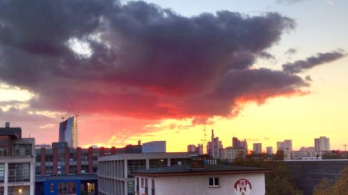 Beeindruckende Aussicht vom Office Center in Frankfurt, Ost