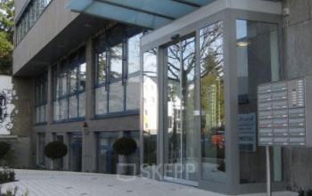 Stilvoller Eingangsbereich des Business Centers in Frankfurt-West
