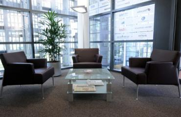 Bequeme Business Lounge in der Immobilie in Frankfurt