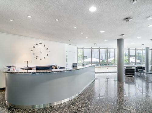 Stilvoller Empfangsbereich der Immobilie an der Bockenheimer Landstraße in Frankfurt Westend