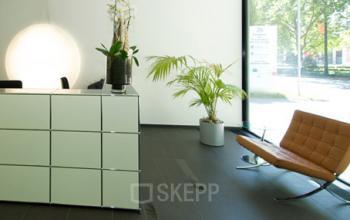 Stilvoller Empfangsbereich des Business Centers an der Friedrich-Ebert-Anlage in Westend