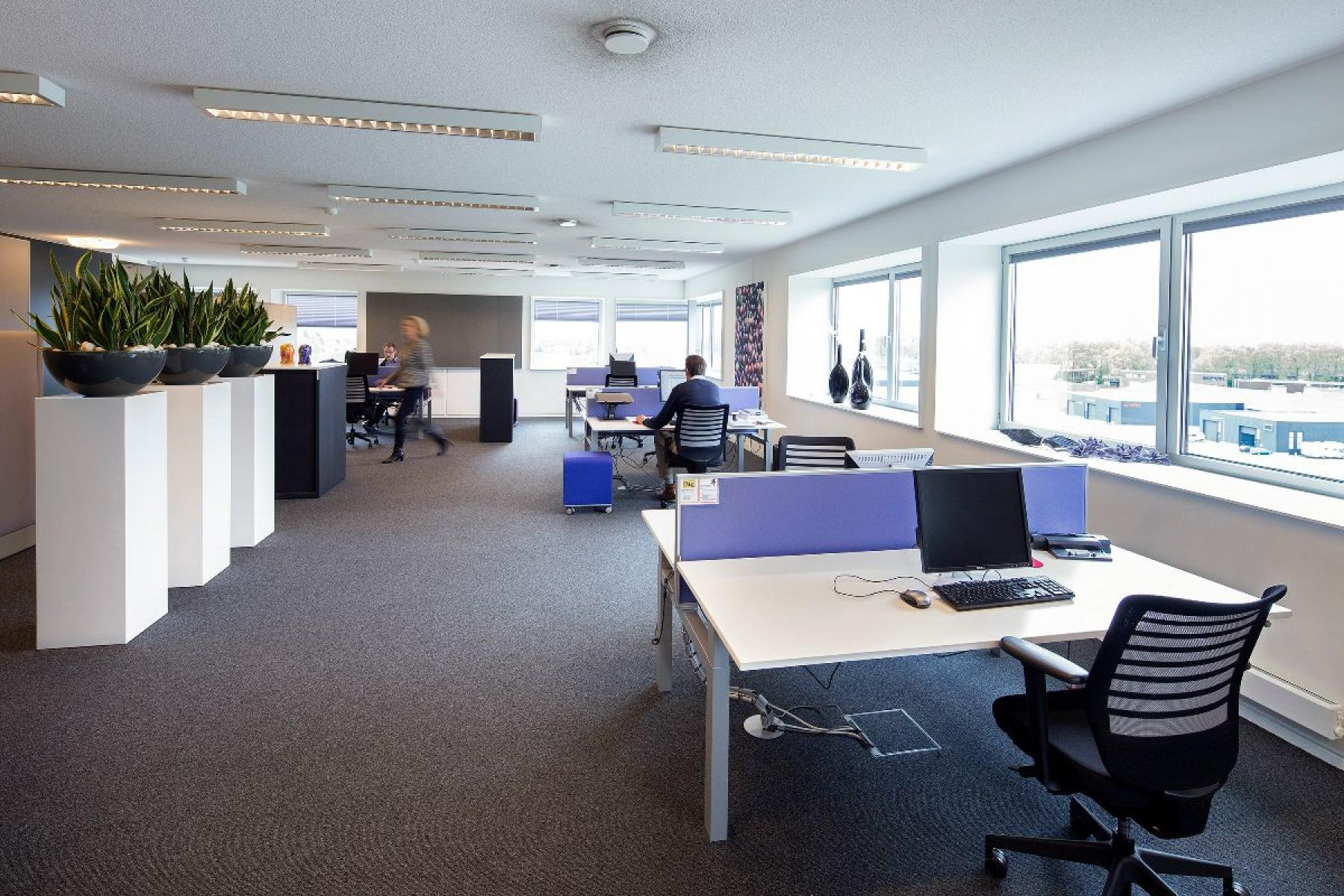 Office space with working spaces