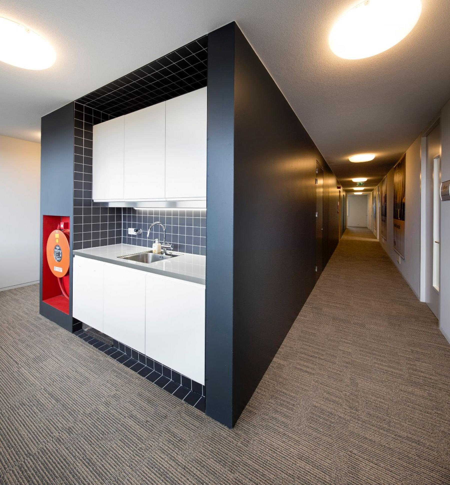 The pantry in the office building