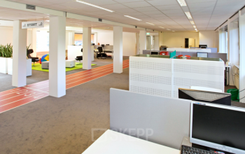 big office space room groningen desks many places