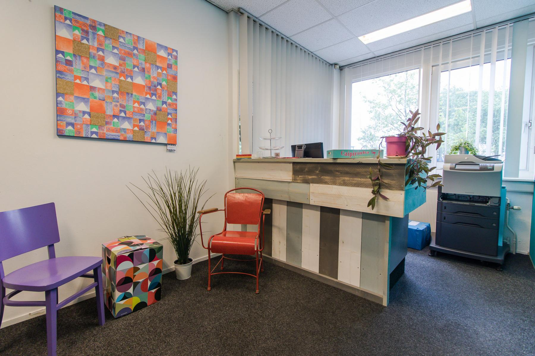 Office building with manned reception during office hours