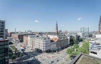 Atemberaubende Aussicht aus den Büros Brandswiete Hamburg