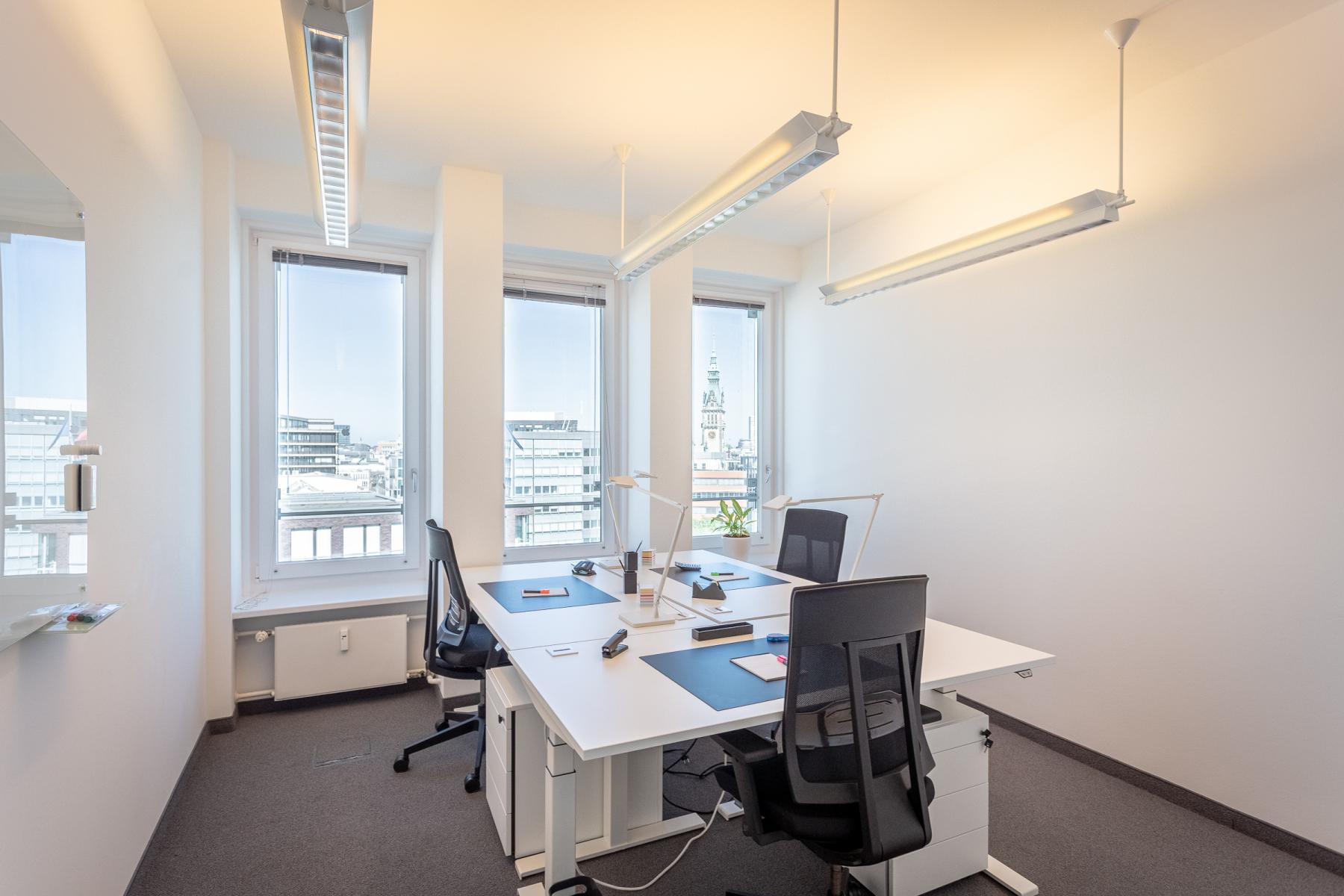 Tolle Aussicht aus Privatbüros im Business Center in Hamburg