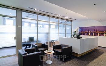 Gemütliche Business Lounge an der Kurze Mühren in Hamburg