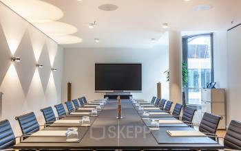 Big and bright conference rooms at the Business Center in Hamburg