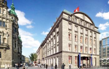 Beeindruckende Außenansicht des Bürogebäudes in Hamburg Alter Wall Altstadt