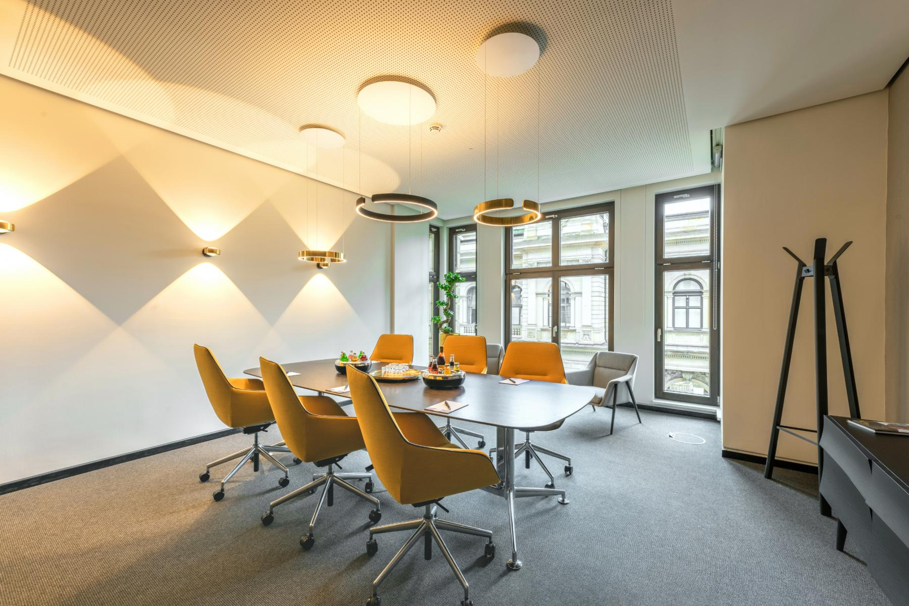 fully equipped conference room in the office in Hamburg, Altstadt