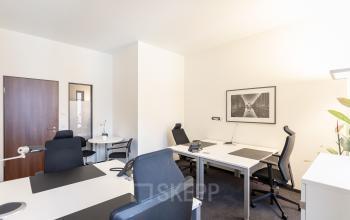 Teambüro im Business Center in der Hafencity