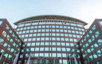 Atemberaubende Außenansicht Bürogebäude mit fantastischer Fassade