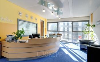 Stilvoller Empfangsbereich des Business Centers in Hamburg Neustadt, Valentinskamp