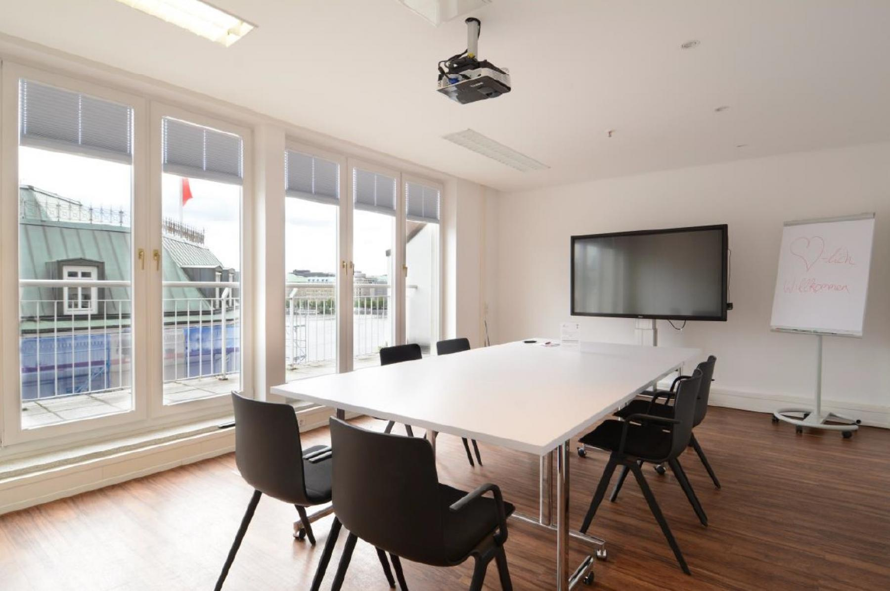 fully equipped meeting room in the office building in Hamburg Neustadt