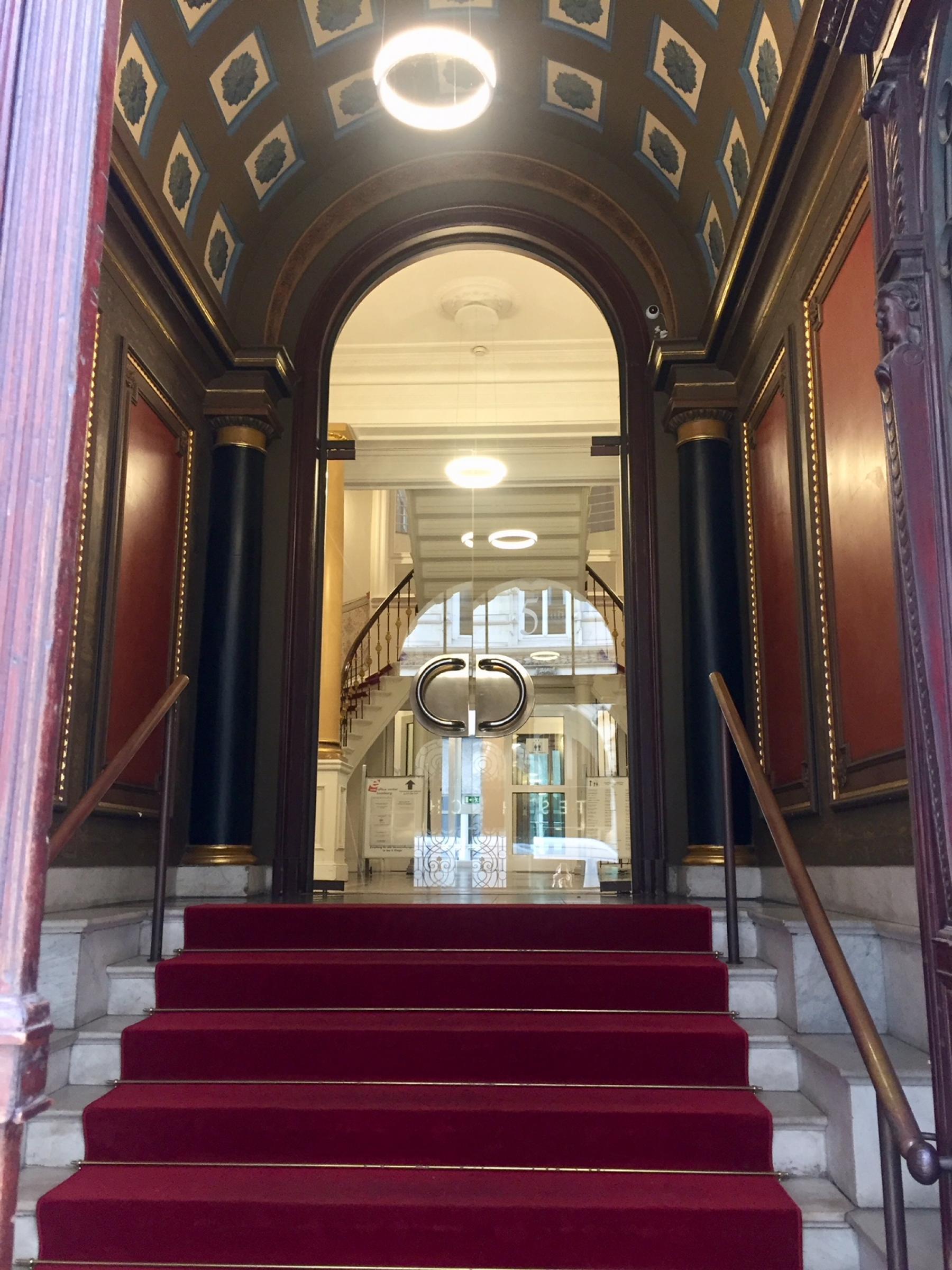 Impressive entrance area of the Office building in Hamburg Neustadt