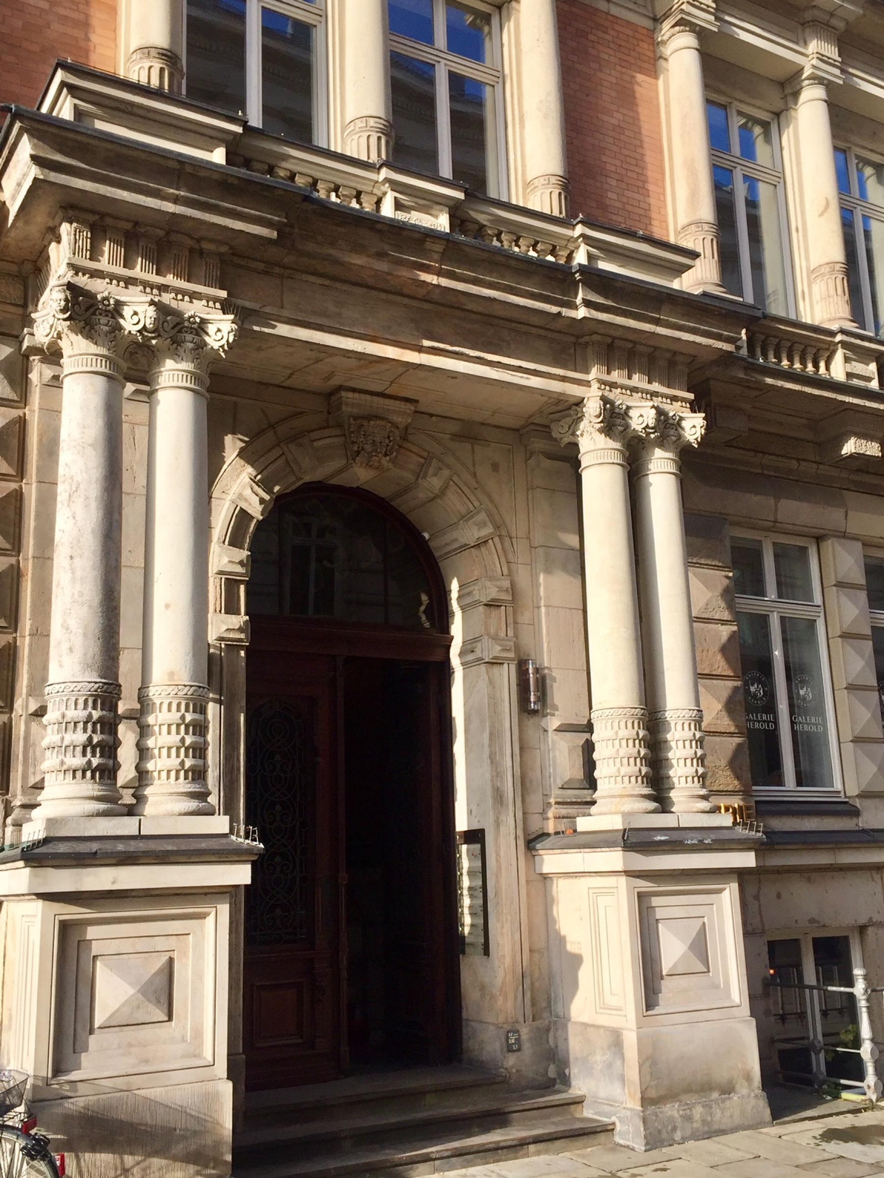 Impressive entrance area of the Office building in Hamburg