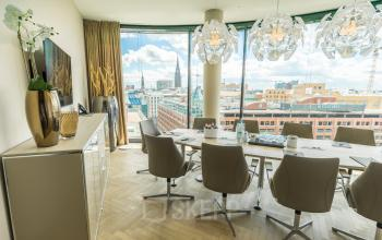 Bright conference room at the office in Hamburg for rent