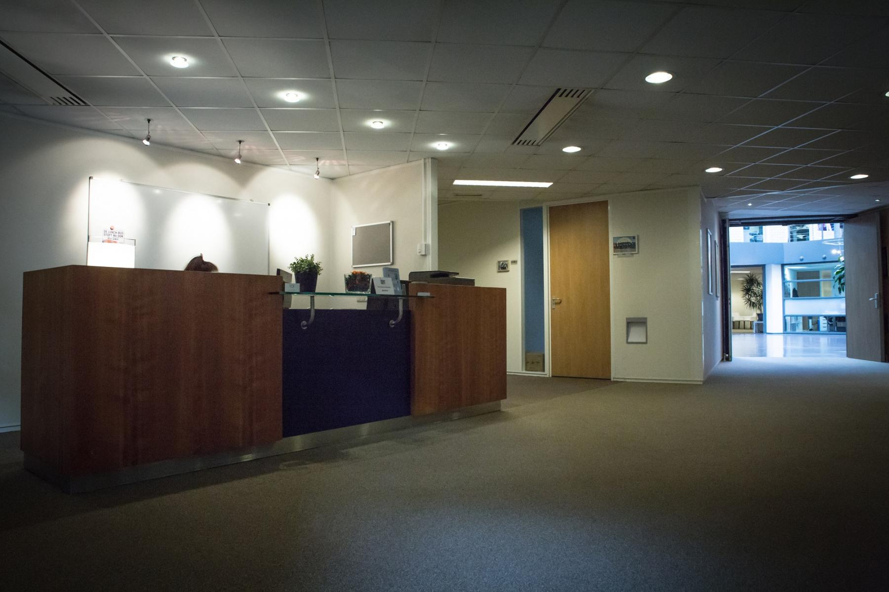 entrance office building reception desk