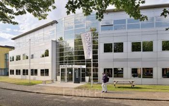 Front side office building Houten many windows
