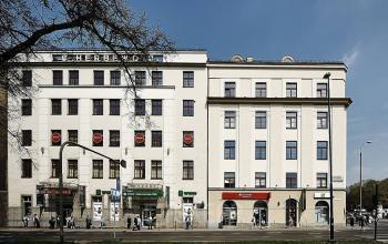przód budynku aleja słowackiego kraków