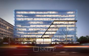 view office building from outside tischnera krakow