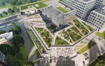 view tischnera office terraces from bird eye