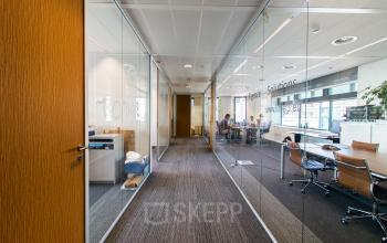 Modern office building with light office spaces