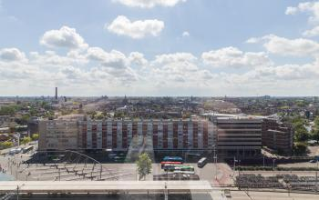 Office building with magnificent view over de centre of Leiden