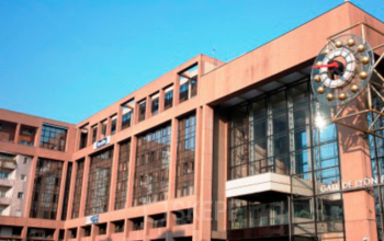 Façade immeuble de bureaux gare de Lyon Part-Dieu