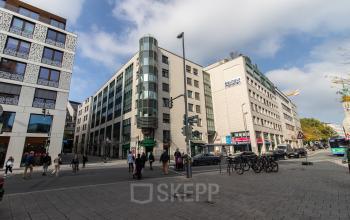 Impressive exterior view of the office building in Munich Altstadt